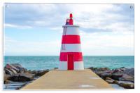 Lighthouse At Praia Da Rocha, Portimao, Acrylic Print