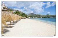 Quiet Beach At Puerto Pollensa, Acrylic Print