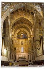 Inside Monreale Cathederal, Acrylic Print