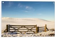 A Winter Gate, Acrylic Print