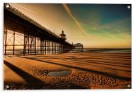 Shadows Of The Pier, Acrylic Print