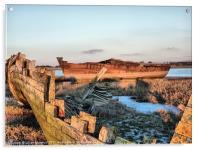 Ships Graveyard., Acrylic Print
