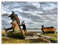 Wrecks at Fleetwood Marsh., Acrylic Print