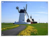 Lytham Windmill and Lifeboat Station., Acrylic Print