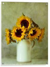 Sunflowers still life, Acrylic Print