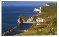 Dorset coastal path., Acrylic Print