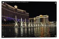 Bellagio Fountains., Acrylic Print