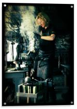 Blacksmith at work, Acrylic Print