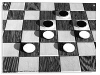 Black and White Chess, Acrylic Print