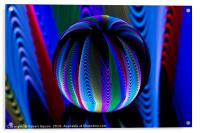 Colours in the crystal ball, Acrylic Print