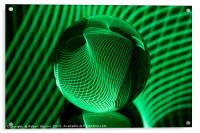 Green in the glass ball, Acrylic Print