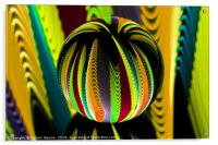 Variation in the glass globe., Acrylic Print