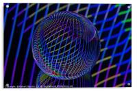 Bright lines in the ball, Acrylic Print