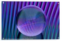 Crystal ball lines 3, Acrylic Print