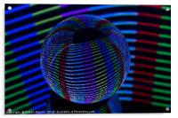 Twirls in the crystal., Acrylic Print