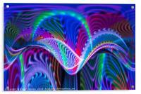 Waves of colour, Acrylic Print