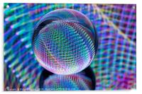 Magic lights in the glass ball, Acrylic Print