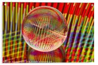 Criss Cross lights in the crystal ball, Acrylic Print