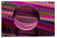 Vivid in the glass ball, Acrylic Print