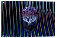 Abstract art Eyes in the glass ball, Acrylic Print