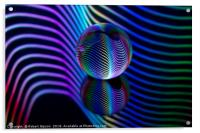 Abstract art Rainbows in the glass ball., Acrylic Print