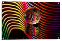 Abstract art Rainbows two in the glass ball., Acrylic Print