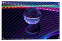 Checkered lines in the glass ball, Acrylic Print