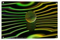Abstract art Floating glass ball abstract., Acrylic Print