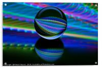 All colours in the glass ball, Acrylic Print