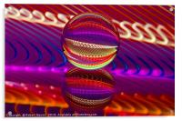 Abstract art Brilliance in the crystal ball, Acrylic Print