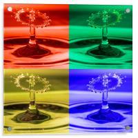 Pop Art Water Drops 1, Acrylic Print