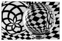 Crystal Ball Op Art 2, Acrylic Print