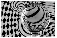 Crystal Ball Op Art 6, Acrylic Print