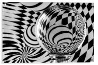Crystal Ball Op Art 7, Acrylic Print