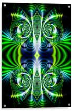 Flight of Fancy Green, Acrylic Print