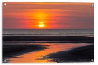 Ainsdale Beach Sunset, Acrylic Print