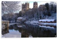 Durham Cathedral In Winter, Acrylic Print