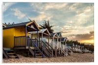 Beach Huts at Sunset, Acrylic Print