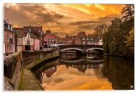 Norwich River Sunset, Acrylic Print
