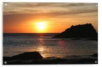 sunset on lleyn peninsula, Acrylic Print