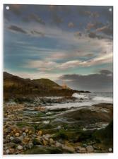 Mumbles Lighthouse from Bracelet Bay., Acrylic Print