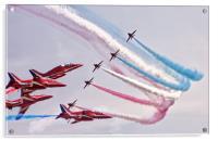 RAF Red Arrows, Acrylic Print