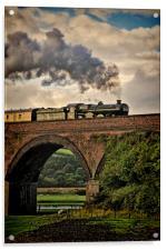 Nunney Castle 5029 Steam Train., Acrylic Print