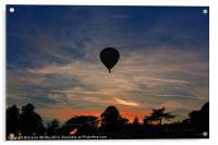 Sun Set over Derbyshire, Acrylic Print