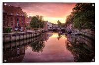 Fye Bridge Dawn, Norwich, Acrylic Print