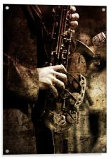 Old Sax, Acrylic Print