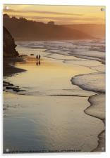 Stroll in evening light, Acrylic Print