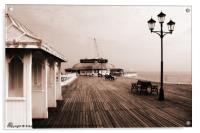 Along Cromer Pier, Acrylic Print