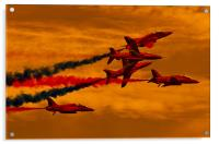 Red Arrows, Red Skies, Acrylic Print