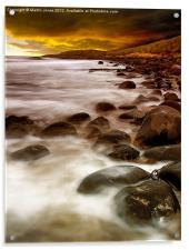 Sunrise on the Rocks, Acrylic Print